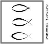 christian fish symbol. vector | Shutterstock .eps vector #525426340