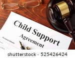 child support agreement on an... | Shutterstock . vector #525426424