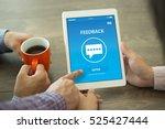 feedback concept on screen | Shutterstock . vector #525427444