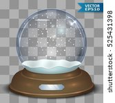 empty christmas snow globe with ...   Shutterstock .eps vector #525431398