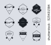 product quality badge label... | Shutterstock . vector #525431584