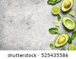 Avocado Halves With Lime Slices ...
