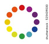 color wheel circle guide | Shutterstock .eps vector #525439030