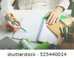 woman with various creative... | Shutterstock . vector #525440014