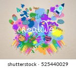 creative bright colorful sketch ... | Shutterstock . vector #525440029
