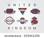 england emblem badge label... | Shutterstock . vector #525441250