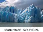 Closeup View Of Grey Glacier...