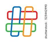 vector hashtag icon | Shutterstock .eps vector #525442990