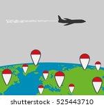 Silhouette Of Passenger Plane...
