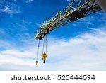 crane  pedestal crane winch ... | Shutterstock . vector #525444094