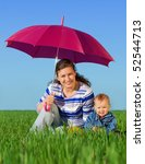 happy family with children... | Shutterstock . vector #52544713