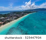 aerial view of boracay | Shutterstock . vector #525447934