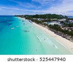 aerial view of boracay | Shutterstock . vector #525447940