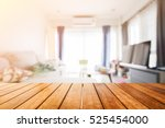 wooden board empty table in... | Shutterstock . vector #525454000