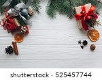 christmas decorations  gifts... | Shutterstock . vector #525457744