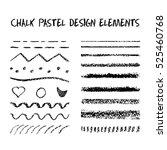 set of chalk brushes. vector...   Shutterstock .eps vector #525460768