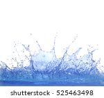 clear blue water splashing... | Shutterstock . vector #525463498