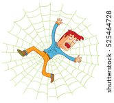 on the spider web | Shutterstock .eps vector #525464728