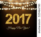 new year postcard  with... | Shutterstock .eps vector #525466780