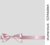 pink ribbon  with gradient mesh ... | Shutterstock .eps vector #525466864