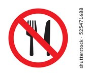 no food sign vector | Shutterstock .eps vector #525471688