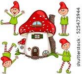 vector illustration of gnomes... | Shutterstock .eps vector #525473944