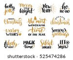 vector handwritten christmas... | Shutterstock .eps vector #525474286