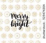 vector merry and bright... | Shutterstock .eps vector #525474304