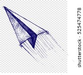 plane  sketch | Shutterstock .eps vector #525474778