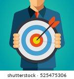 cartoon business man holding a... | Shutterstock .eps vector #525475306