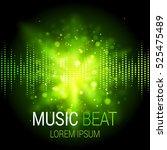 Music Beat Vector. Green Lights ...
