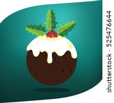 Christmas Pudding With Holly...