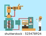 robotic system  advanced...   Shutterstock .eps vector #525478924