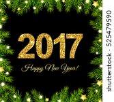 new year poster | Shutterstock .eps vector #525479590