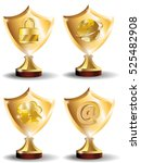 set of awards in the field of... | Shutterstock .eps vector #525482908