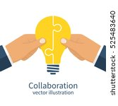 collaboration concept.... | Shutterstock .eps vector #525483640