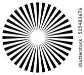 rays  beams element. sunburst ... | Shutterstock . vector #525483676