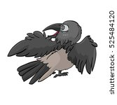 cute cartoon vector young crow... | Shutterstock .eps vector #525484120