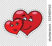 love couple heart valentine... | Shutterstock .eps vector #525485410