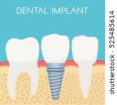 anatomy of human teeth and... | Shutterstock .eps vector #525485614