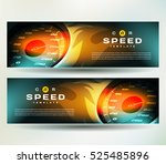 banner speed action hot fast... | Shutterstock .eps vector #525485896