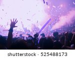 silhouette hands of audience... | Shutterstock . vector #525488173