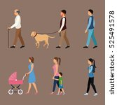 Set People Walking Concept