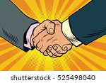 business handshake  partnership ... | Shutterstock .eps vector #525498040