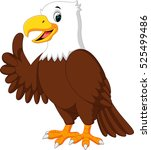 cute eagle cartoon | Shutterstock .eps vector #525499486