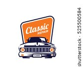 classic car illustration  front ... | Shutterstock .eps vector #525500584