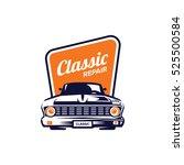classic car illustration  front ... | Shutterstock .eps vector #525500584