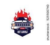 Classic Car Illustration  Fron...