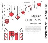 christmas  new year horizontal... | Shutterstock .eps vector #525501340