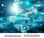 man press screen | Shutterstock . vector #525510544